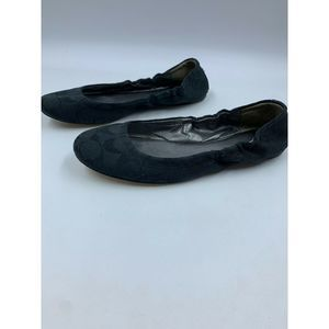 Coach Aly shoes 8 ballet flats slip ons black